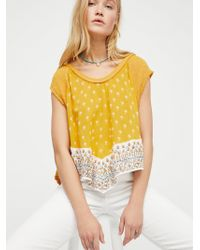 Free People - We The Free Safe And Sound Tee - Lyst
