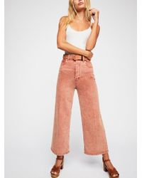 Free People - Wales Wide-leg Jeans - Lyst