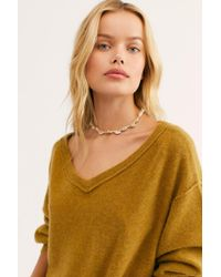95789e2453a Free People Love Like This Cashmere Pullover in Green - Lyst