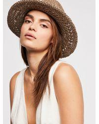 Free People - Summerland Crochet Straw Sun Hat - Lyst