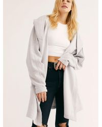 Free People - Willow Hooded Cardi - Lyst