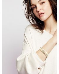 Free People - Double Chainmaille Cuff - Lyst