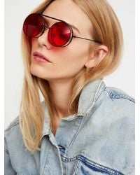Free People - Double Take Flip-up Aviator - Lyst