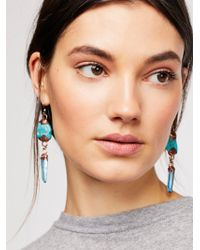 Free People - Anchor Stone Earrings - Lyst