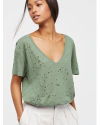 Free People | We The Free Destroyed Tee | Lyst