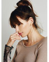 Free People - Essential Hoop Earrings - Lyst
