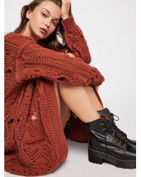 Free People - Torn To Shreds Cardi Sweater - Lyst
