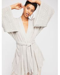 Free People - Fp One Tie Wrap Kimono - Lyst