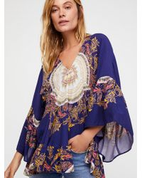 Free People - Sunset Dreams Printed Tunic - Lyst