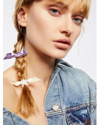 Free People - Metallic Bow Hair Ties - Lyst