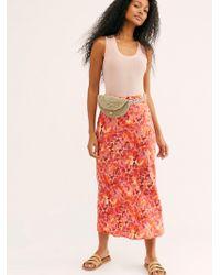 Free People - Normani Bias Printed Skirt - Lyst