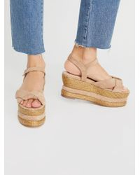 Free People - Vegan Loom Wedge - Lyst