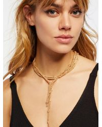 Free People - Cora Chain Wrap Scarf Necklace - Lyst