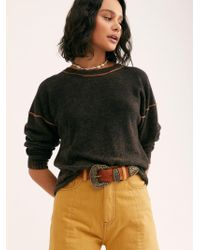 Free People - Break Of Dawn Washed Cashmere Jumper - Lyst