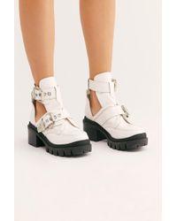 c75424b7bdf4 Lyst - Free People Jeffrey Campbell Womens Solitaire Heel in Brown