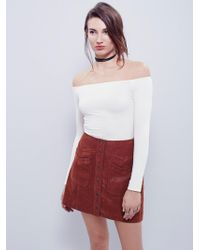 Free People | Off -the-shoulder Solid Top | Lyst