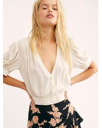 Free People - Stay Bold Buttondown Top - Lyst