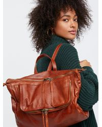Free People - Loved Leather Messenger - Lyst