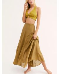 Free People - Lily Cotton Silk Maxi Skirt By Cp Shades - Lyst