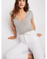 Free People - Baby V-neck Tee By Intimately - Lyst