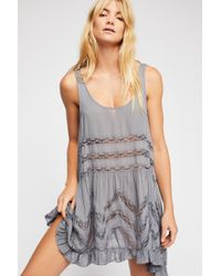 19cfbfe835dca Free People - Voile And Lace Trapeze Slip By Intimately - Chemise - Lyst