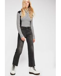 Free People - Vintage Crop Straight-leg Jeans By We The Free - Lyst
