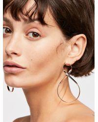 Free People - Infinity Hoop Earrings - Lyst