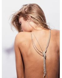 Free People - Knotted Pearl & Chain Pendant - Lyst