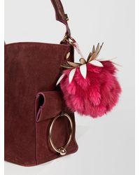 Free People - Pineapple Faux Fur Bag Charm - Lyst