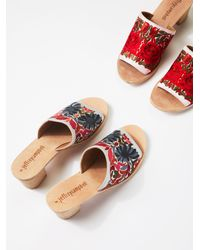 Free People - Riviera Embroidered Mule - Lyst