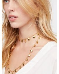 Free People - Twirl Me Charm Layered Necklace - Lyst