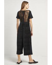 da82b51c786 French Connection - Sarelle Ottoman Velvet Jersey Jumpsuit - Lyst