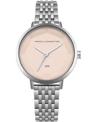 French Connection - Silver Sunray Dial Bracelet Watch - Lyst