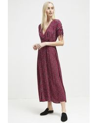 18519c55477 Lyst - French Connection Kioa Drape Strappy Maxi Dress in Red