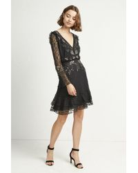 French Connection - Bella Sparkle Embellished Lace Dress - Lyst
