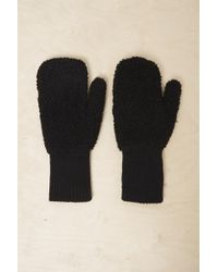 French Connection - Capta Shearling Mittens - Lyst