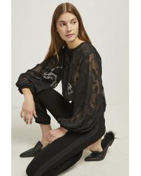 e172222e72 Lyst - French Connection Patricia Lace Jersey Jumpsuit in Black