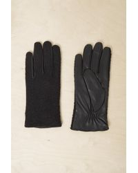 French Connection - Lara Leather Panelled Gloves - Lyst