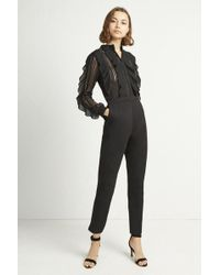 f9337d9515da Lyst - French Connection Chelsea Beau Sleeveless Jumpsuit in Black