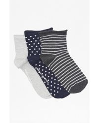 French Connection - Pack Of 3 Socks - Lyst