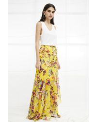 French Connection - Linosa Crinkle Wrapover Maxi Skirt - Lyst