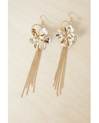 French Connection - Metal Petals Earrings - Lyst