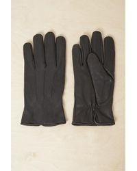 French Connection - Lance Leather Gloves - Lyst