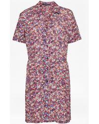 French Connection - Clarette Floral Mini Shirt Dress - Lyst
