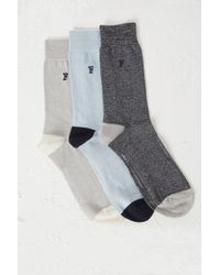 French Connection | 3 Pack Maddox Melange Socks | Lyst