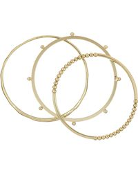 French Connection - Dotted Bangle Set - Lyst