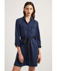 French Connection - Tandy Lyocell Short Shirt Dress - Lyst