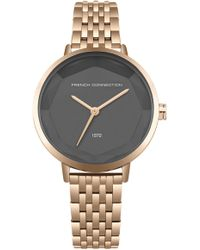 French Connection - Rose Sunray Dial Bracelet Watch - Lyst