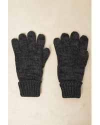 French Connection - Chunky Knit Gloves - Lyst