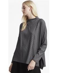 French Connection   Sario Ribbed Jersey High Neck Top   Lyst